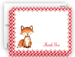 Fox f Thank You Cards Note Card Stationery •  Flat, Folded or Fill-In-the-Blank Stationery Thank You Cards - Everything Nice