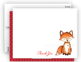 Fox g Thank You Cards Note Card Stationery •  Flat, Folded or Fill-In-the-Blank