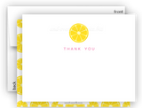 Lemon II Thank You Cards Note Card Stationery •  Flat Cards Stationery Thank You Cards - Everything Nice