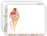 Ice Cream Thank You Cards Note Card Stationery •  Flat Cards Stationery Thank You Cards - Everything Nice