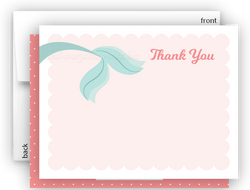 Mermaid p Thank You Cards Note Card Stationery •  Flat, Folded or Fill-In-the-Blank Stationery Thank You Cards - Everything Nice