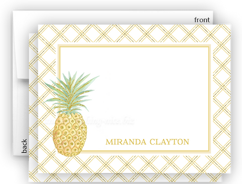 Pineapple III Thank You Cards Note Card Stationery •  Flat Cards Stationery Thank You Cards - Everything Nice