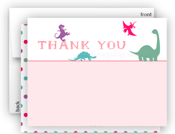Dinosaur c Thank You Cards Note Card Stationery •  Flat or Folded Stationery Thank You Cards - Everything Nice