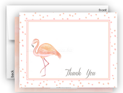Pink Flamingo d Thank You Cards Note Card Stationery •  Flat, Folded or Fill-In-the-Blank