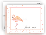 Pink Flamingo d Thank You Cards Note Card Stationery •  Flat Cards Stationery Thank You Cards - Everything Nice