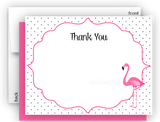 Pink Flamingo e Thank You Cards Note Card Stationery •  Flat, Folded or Fill-In-the-Blank