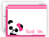 Panda Bear g Thank You Cards Note Card Stationery •  Flat, Folded or Fill-In-the-Blank
