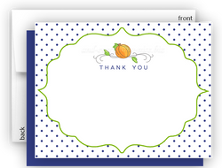 Pumpkin c Thank You Cards Note Card Stationery •  Flat, Folded or Fill-In-the-Blank