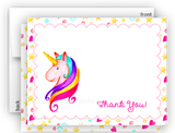 Rainbow Unicorn t Thank You Cards Note Card Stationery •  Flat, Folded or Fill-In-the-Blank Stationery Thank You Cards - Everything Nice