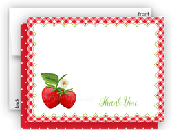 Strawberry II Thank You Cards Note Card Stationery •  Flat, Folded or Fill-In-the-Blank
