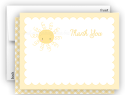 Sunshine b Thank You Cards Note Card Stationery •  Flat, Folded or Fill-In-the-Blank Stationery Thank You Cards - Everything Nice