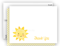 Sunshine c Thank You Cards Note Card Stationery •  Flat, Folded or Fill-In-the-Blank Stationery Thank You Cards - Everything Nice