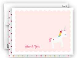 Rainbow Unicorn u Thank You Cards Note Card Stationery •  Flat, Folded or Fill-In-the-Blank Stationery Thank You Cards - Everything Nice