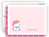 Rainbow Unicorn w Thank You Cards Note Card Stationery •  Flat Cards Stationery Thank You Cards - Everything Nice