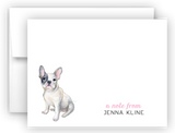 French Bulldog Thank You Cards Note Card Stationery •  Flat or Folded Stationery Thank You Cards - Everything Nice