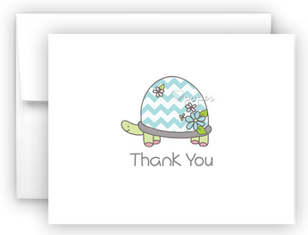 Blue Turtle Thank You Cards Note Card Stationery •  Flat, Folded or Fill-In-the-Blank Stationery Thank You Cards - Everything Nice