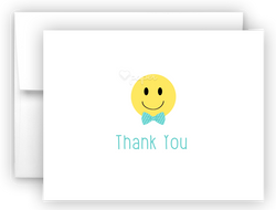 Bow Tie Emoji Thank You Cards Note Card Stationery •  Flat, Folded or Fill-In-the-Blank Stationery Thank You Cards - Everything Nice