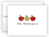 Apples Thank You Cards Note Card Stationery •  Flat or Folded Stationery Thank You Cards - Everything Nice