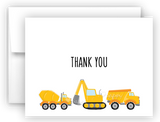Construction Thank You Cards Note Card Stationery •  Flat, Folded or Fill-In-the-Blank Stationery Thank You Cards - Everything Nice