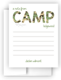 A Note from Camp Camo Thank You Cards Note Card Stationery •  Flat Cards Stationery Thank You Cards - Everything Nice