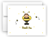Ba-Bee Bumble Bee Printed Thank You Cards • Folded Flat Card Notecard Stationery Stationery Thank You Cards - Everything Nice