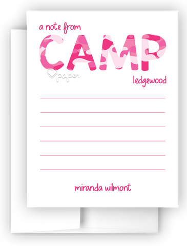 A Note from Camp Camo Thank You Cards Note Card Stationery •  Flat, Folded or Fill-In-the-Blank Stationery Thank You Cards - Everything Nice