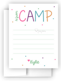 Hi from Camp Polka Dots Thank You Cards Note Card Stationery •  Flat, Folded or Fill-In-the-Blank