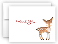 Deer Thank You Cards Note Card Stationery •  Flat, Folded or Fill-In-the-Blank Stationery Thank You Cards - Everything Nice