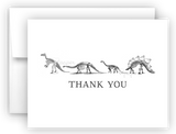 Dinosaur Skeleton Bones Thank You Cards Note Card Stationery •  Flat or Folded Stationery Thank You Cards - Everything Nice