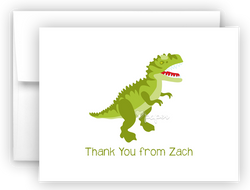 Dinosaur Thank You Cards Note Card Stationery •  Flat, Folded or Fill-In-the-Blank