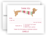 Dachshund Dog Thank You Cards Note Card Stationery •  Fill In the Blank Stationery Thank You Cards - Everything Nice