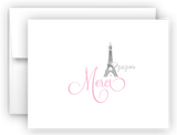 Eiffel Tower Thank You Cards Note Card Stationery •  Flat, Folded or Fill-In-the-Blank Stationery Thank You Cards - Everything Nice