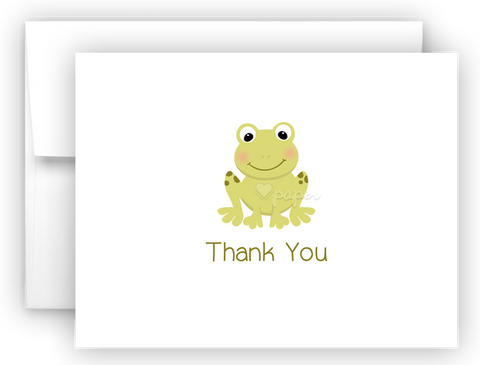 Frog Thank You Cards Note Card Stationery •  Flat, Folded or Fill-In-the-Blank