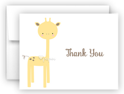 Sweet Giraffe Thank You Cards Note Card Stationery •  Flat, Folded or Fill-In-the-Blank