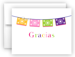 Fiesta Banner Thank You Cards Note Card Stationery •  Flat, Folded or Fill-In-the-Blank Stationery Thank You Cards - Everything Nice