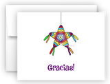 Pinata Fiesta Thank You Cards Note Card Stationery •  Flat or Folded Stationery Thank You Cards - Everything Nice