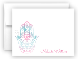 Hamsa Thank You Cards Note Card Stationery •  Flat, Folded or Fill-In-the-Blank