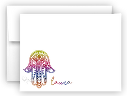 Hamsa b Thank You Cards Note Card Stationery •  Flat, Folded or Fill-In-the-Blank