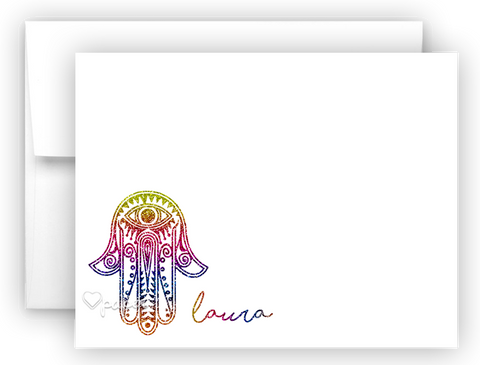 Hamsa b Thank You Cards Note Card Stationery •  Flat, Folded or Fill-In-the-Blank Stationery Thank You Cards - Everything Nice