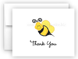 Bumble Bee III Printed Thank You Cards • Folded Flat Note Card Stationery Stationery Thank You Cards - Everything Nice