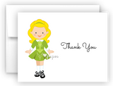 Irish Dancer Dancing Thank You Cards Note Card Stationery •  Flat, Folded or Fill-In-the-Blank Stationery Thank You Cards - Everything Nice