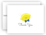 Boy Lemon Thank You Cards Note Card Stationery •  Flat or Folded Stationery Thank You Cards - Everything Nice