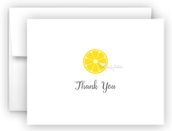 Lemon Thank You Cards Note Card Stationery •  Flat, Folded or Fill-In-the-Blank Stationery Thank You Cards - Everything Nice