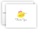 Girl Lemon Thank You Cards Note Card Stationery •  Flat, Folded or Fill-In-the-Blank
