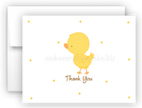Duck Chick Thank You Cards Note Card Stationery •  Flat or Folded Stationery Thank You Cards - Everything Nice