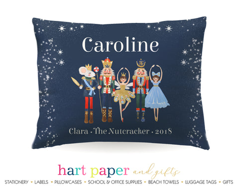 Nutcracker Ballet Blue Personalized Pillowcase Pillowcases - Everything Nice