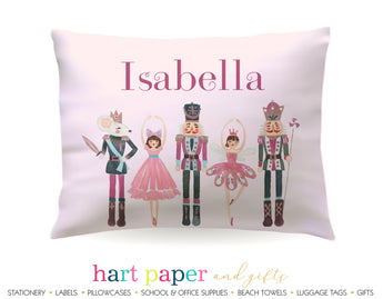 Nutcracker Ballet Pink Personalized Pillowcase Pillowcases - Everything Nice