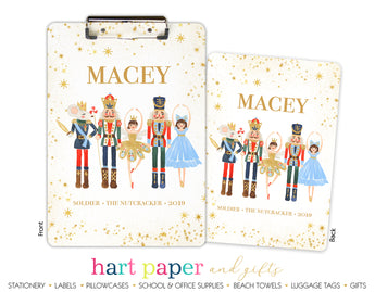 Nutcracker with Role & Show Personalized Clipboard School & Office Supplies - Everything Nice