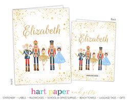 Nutcracker Ballet Personalized 2-Pocket Folder
