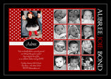 One Sweet Year Collage Photo Birthday Party Invitation • Any Colors Kids Photo Birthday Invitations - Everything Nice